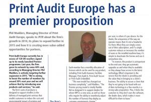 Phil Madders, Managing Director of Print Audit Europe, speaks to PITRPhil Madders, Managing Director of Print Audit Europe, speaks to PITR