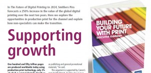 Smithers Pira forecasts a 250% increase in the value of the global digital printing over the next ten years.