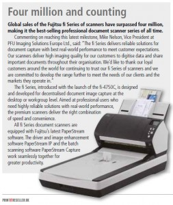 All fi Series document scanners are equipped with Fujitsu's latest PaperStream software.