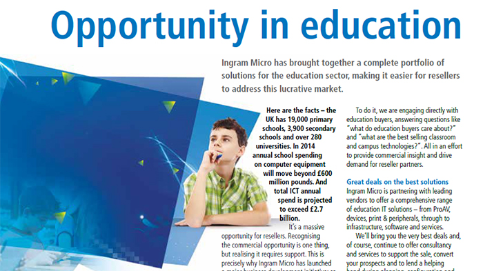 Ingram Micro is partnering with leading vendors to offer a comprehensive range of education IT solutions