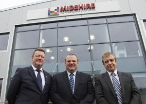 (l-r) Kevin Tunley, Sales Director; Darren Cooper, Sandwell Councillor; Phil Powell,  Managing Director