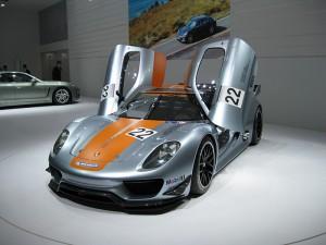 I'd be happy driving a Porsche Hybrid 918 around the Monza GP circuit.