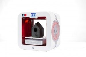 The EKOCYCLE Cube 3D printer uses recycled filament for a smaller carbon footprint