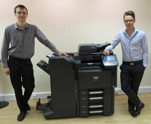 From left to right James Lawton & Sam Palmer recent arivals at Utax UK
