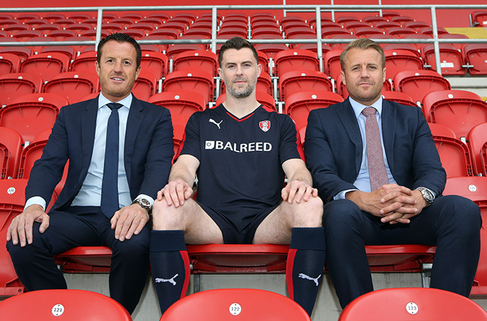 Balreed is the new sponsor of the Rotherham United 2015/2016 away shirt.