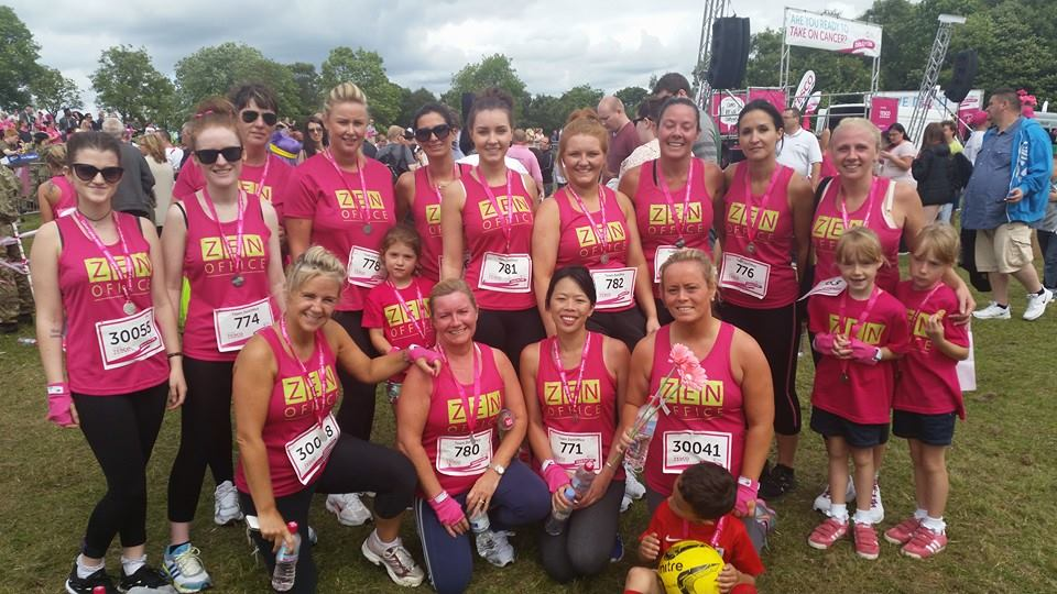 Olympian hockey player Nicola White joined 20 ZenOffice employees in this year's Race for Life