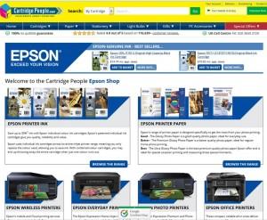 Online cartridge retailer Cartridge People is hosting a dedicated Epson store on its website.