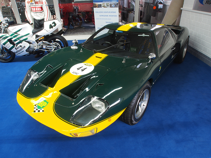 An original Ford GT 40 at Le Mans or Bathurst in Australia.