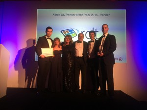 The company also won the Xerox UK Platinum Partner of the Year 2016 award, which recognises the top partner within Xerox's highest tier of mono-branded partners.