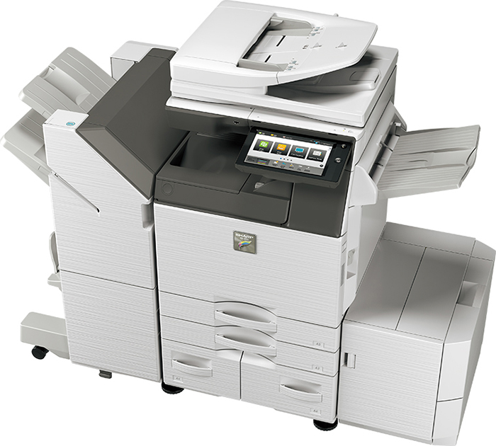 Available in speeds of 40, 35 and 30ppm, the MX Essential A3 colour models combine high quality and speed with the practicality of an easyto-use and customisable interface