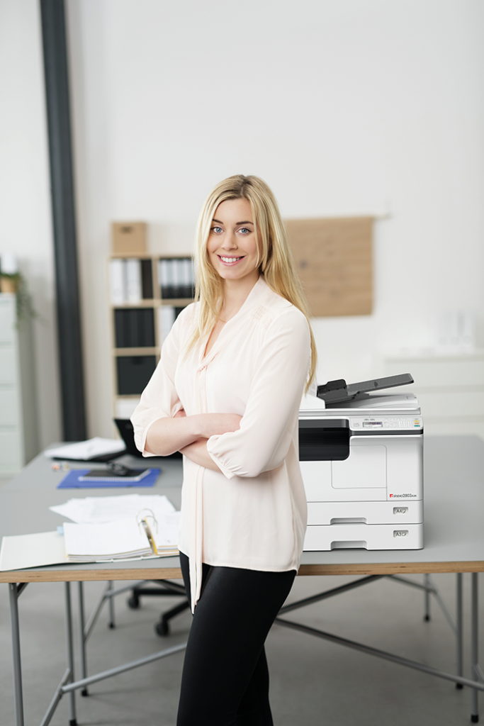 The e-STUDIO2802AM and 2802AF (with fax) are designed for users who want to print, scan and copy A3 documents
