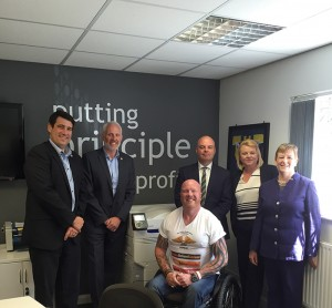 """Brocklehurst said: """"Principle-before-profi is about people, our staff and our customers in all areas of the business."""