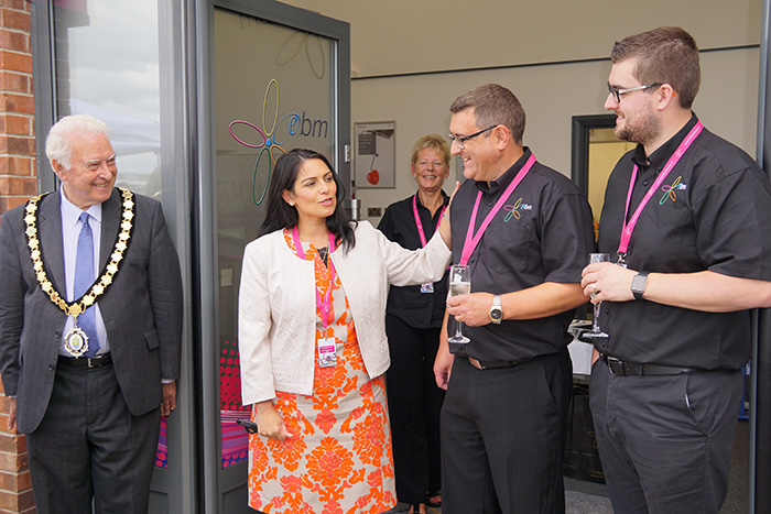 Local MP Priti Patel cut the ribbon on the new premises and unveiled a plaque commemorating the occasion.
