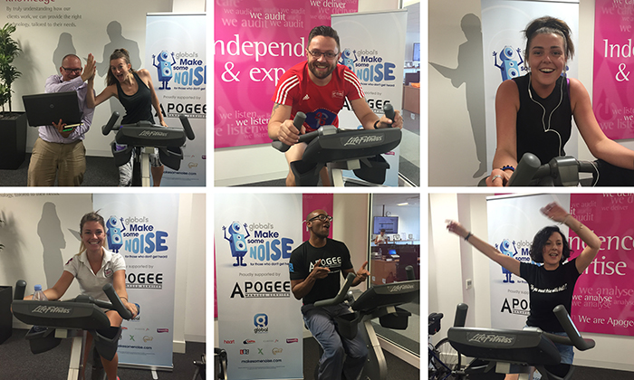 Members of staff across the business rode an impressive 200 miles between them on two static bikes that were installed in the firm's Maidstone head office.