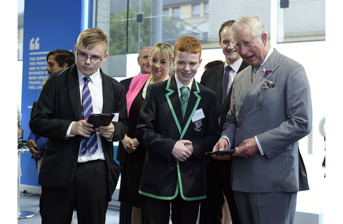 During the visit, the Duke met a number of young people who have been supported by The Prince's Trust Scotland