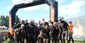 Lyreco team successfully finishing the Tough Mudder event