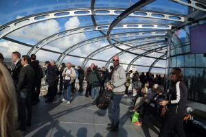 Swan Digital staff and customers at the British Airways i360 observation tower in Brighton