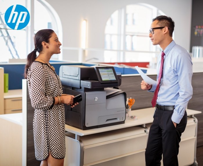 Midshire showcase the HP PageWide desktop printer at Optical Trade Show