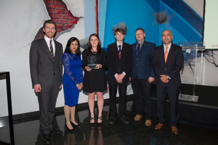 Gerry Kelliher, EMEA Sales Director, Kodak Alaris IM; Rachael Swadkins and Neetika Khanna, DCS; Sid Sutherland, Scansation; Matthew Smith, Midwichand Rick Costanzo, President and General Manager, Kodak Alaris IM