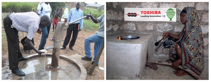Projects sponsored by Toshiba and C02balance