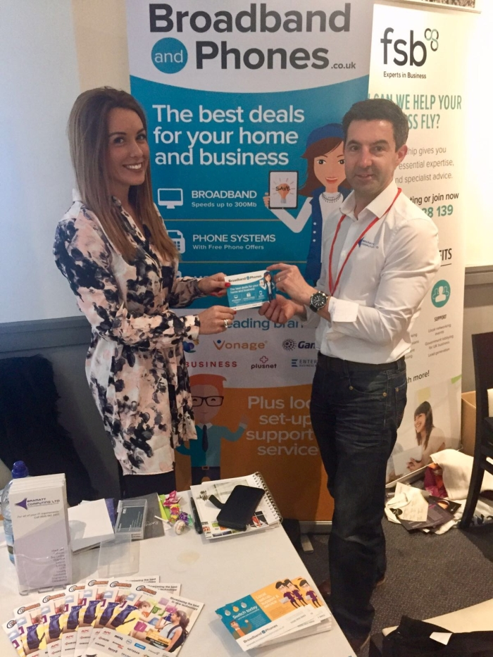 l(l-r) DMSL Account Manager, Ashley Breslin and Lee Attwood