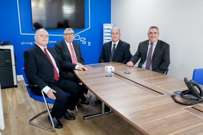 l-r John Sharp, Michael Mathias, Andy Perkins and Jamie Denham
