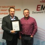 John Cahill, Managing Director EMS Copier and Steve Young, Joint MD at Document Data Group