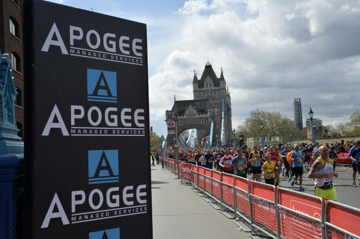 Apogee to supply 2018 Virgin Money London Marathon