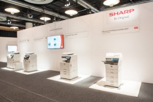 Sharp's stand at Expo 2018