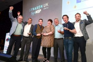 Winners of the Synaxon Special Recognition award celebrate their achievement