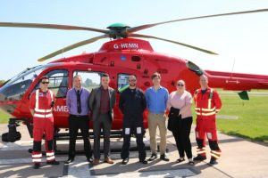 Members of Entanet's CSR Commutee Visited a Midlands Air Ambulance crew at RAF Cosford, nr Wolverhampton