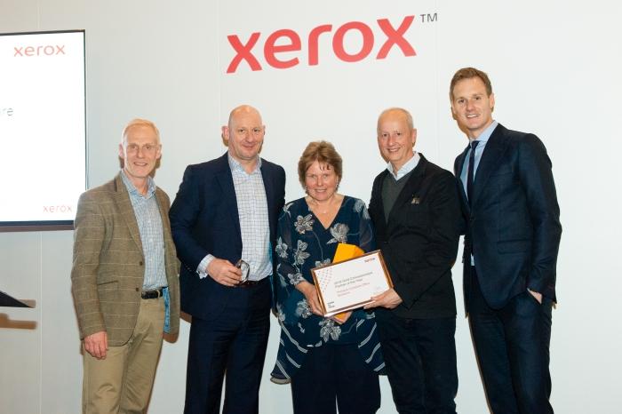 An award for Pinnacle from Xerox