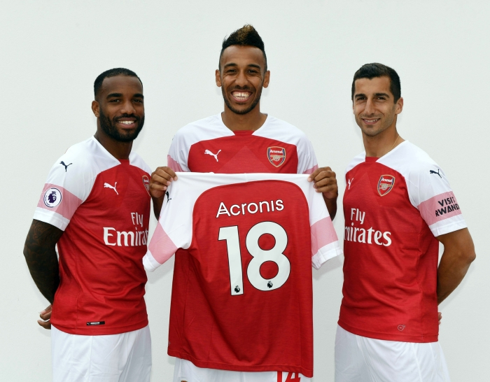 Three of the Arsenal team