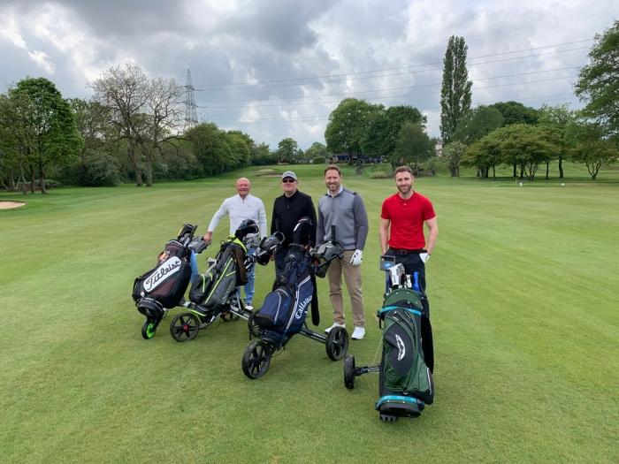 A few of the golfers
