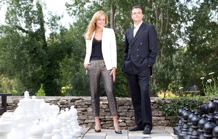 Simone Hindmarch on the left