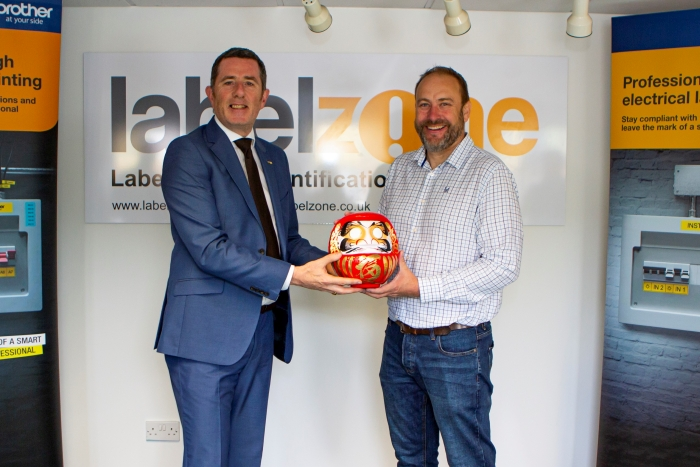 Stuart Wilson MD of Advanced Labelling and Phil Jones MBE, MD of Brother UK