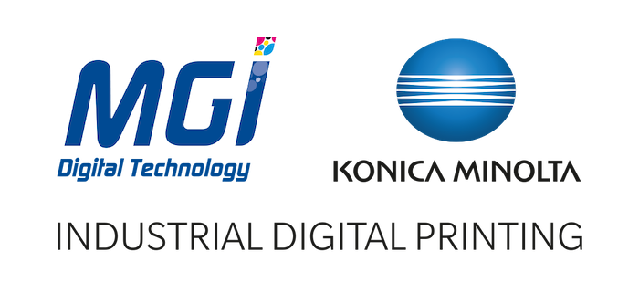 MGI Konica Minolta combined Logo