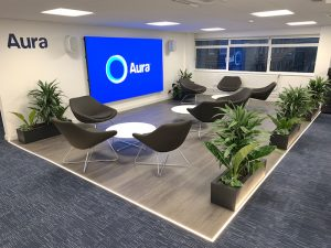 Aura Office Interior - LED wall area